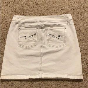 White House Black Market White Jeans Skirt-Small